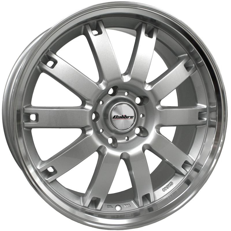 "Calibre Boulevard Silver / Polished Lip 20"" T5 Wheels & Tyres"