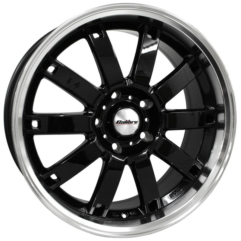 "Calibre Boulevard Black / Polished Lip 20"" T5 Wheels & Tyres"