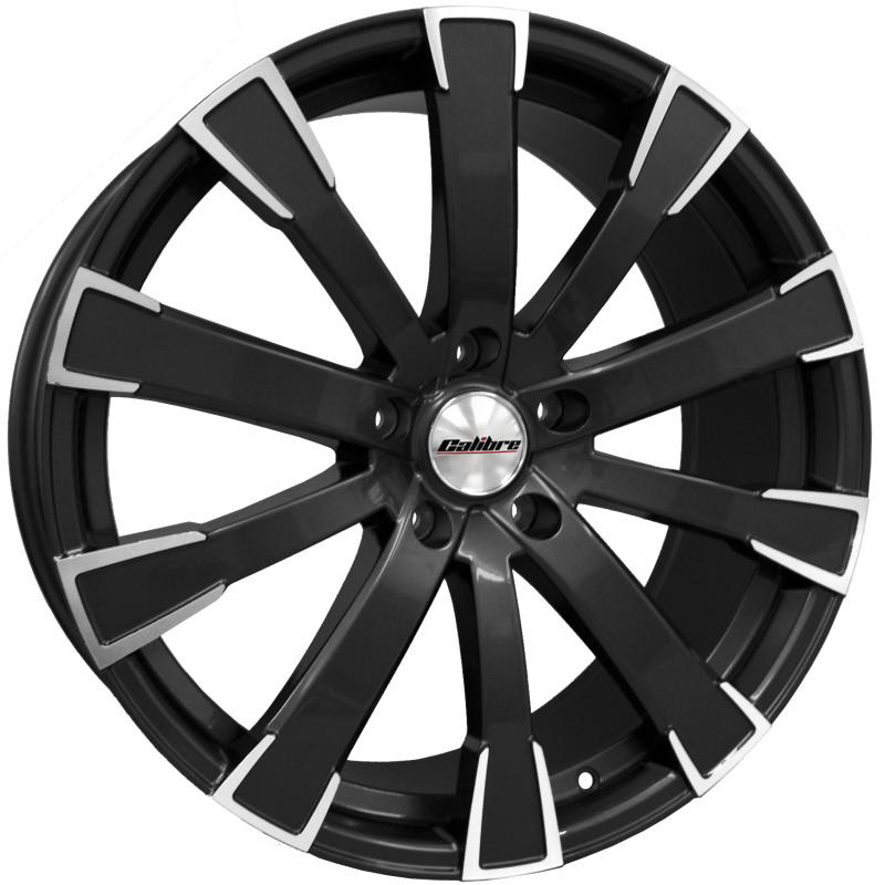 "Calibre Manhattan Black Polished Face 20"" T5 Wheels & Tyres"