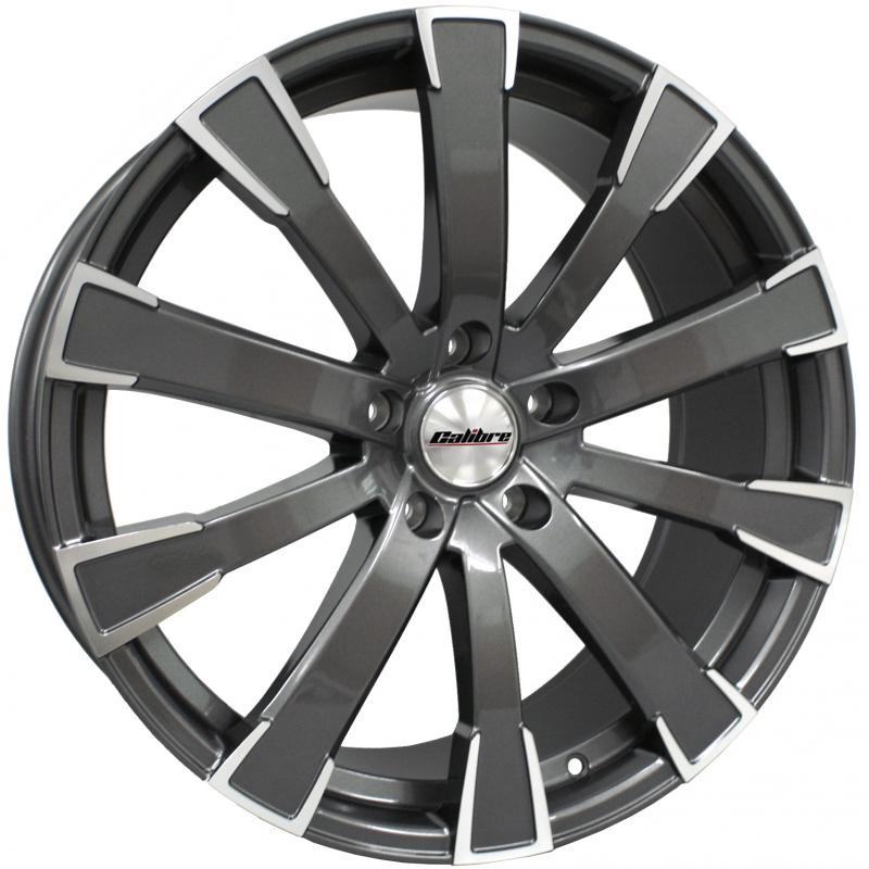 "Calibre Manhattan Gunmetal Polished Face 20"" T5 Wheels & Tyres"