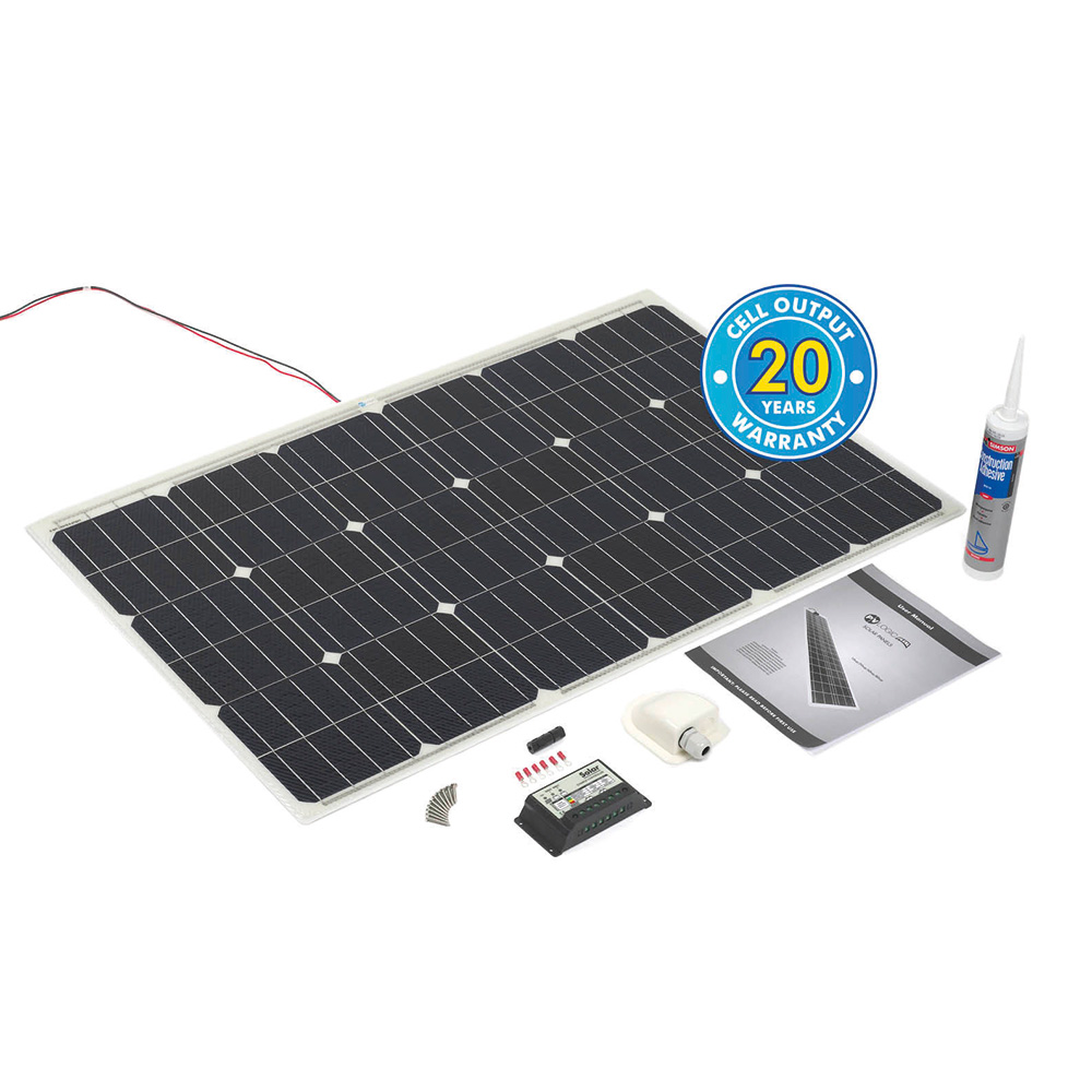 PV LOGIC FLEXI - SEMI FLEXIBLE SOLAR PANEL (100WP CAMPER KIT)