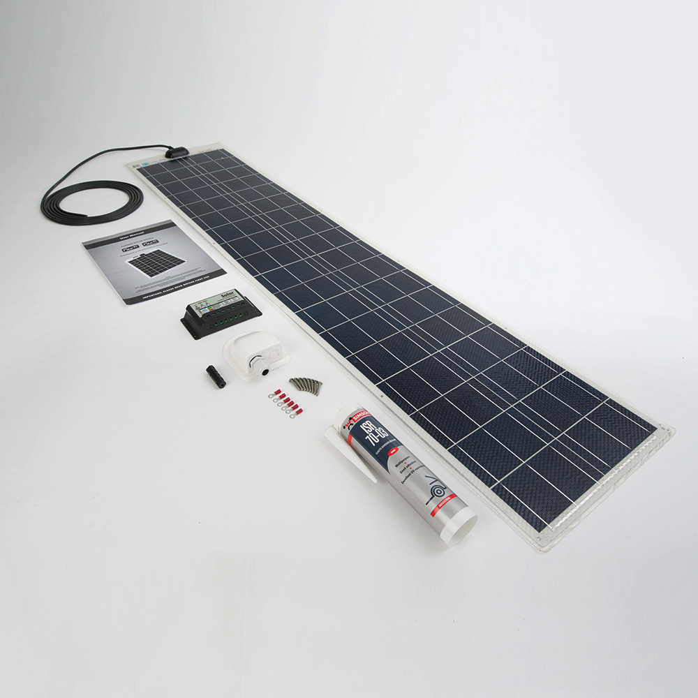 PV LOGIC FLEXI - SEMI FLEXIBLE SOLAR PANELS (60WP CAMPER KIT)