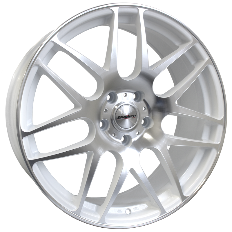 "Calibre Exile (White / Polished Face) 20"" T5 Wheels & Tyres"