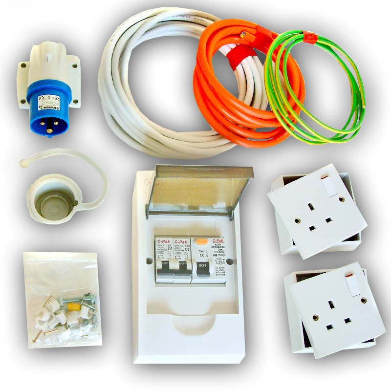 xt106open mains hook up kit 240v (rcd protected) electrical power, vw t4 t5 xtreme van for caravan electric hook up wiring diagram at n-0.co