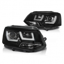 VW T5.1 2010-2015 black inner DRL light bar headlights