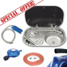 Smev 8322 Sink & Burner Bundle Deal 8