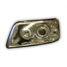 T5 Headlamp Angel Eyes Chrome with Motor (03-10) Pair