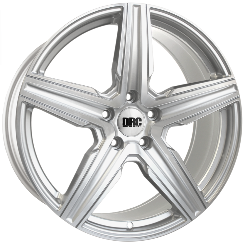 "DMV Silver / Polished Face 8 x 18"" T5 Wheels with Tyres"