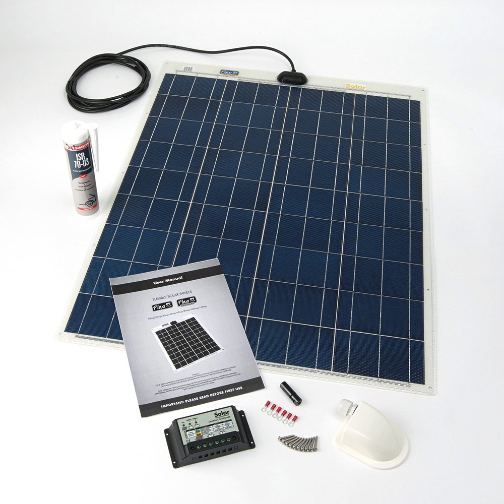PV LOGIC FLEXI - SEMI FLEXIBLE SOLAR PANEL (80WP CAMPER KIT)
