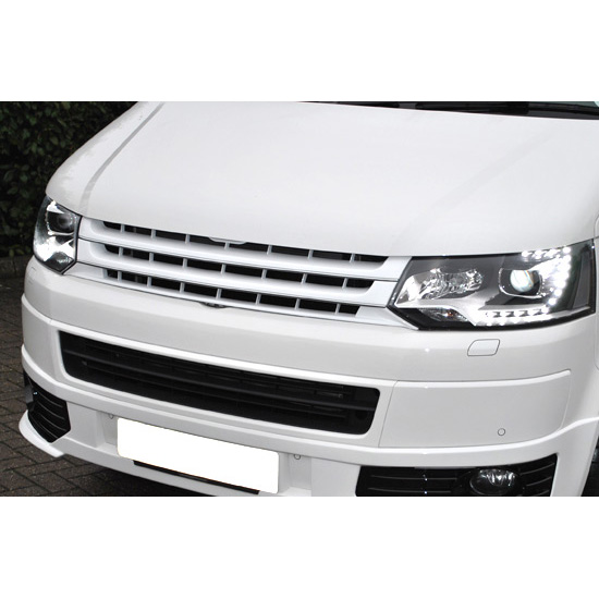 VW T5 2010> \'Sportline\' Badgeless ABS Front Grille