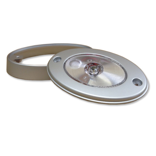 Silver Oval 4 LED Light with Switch