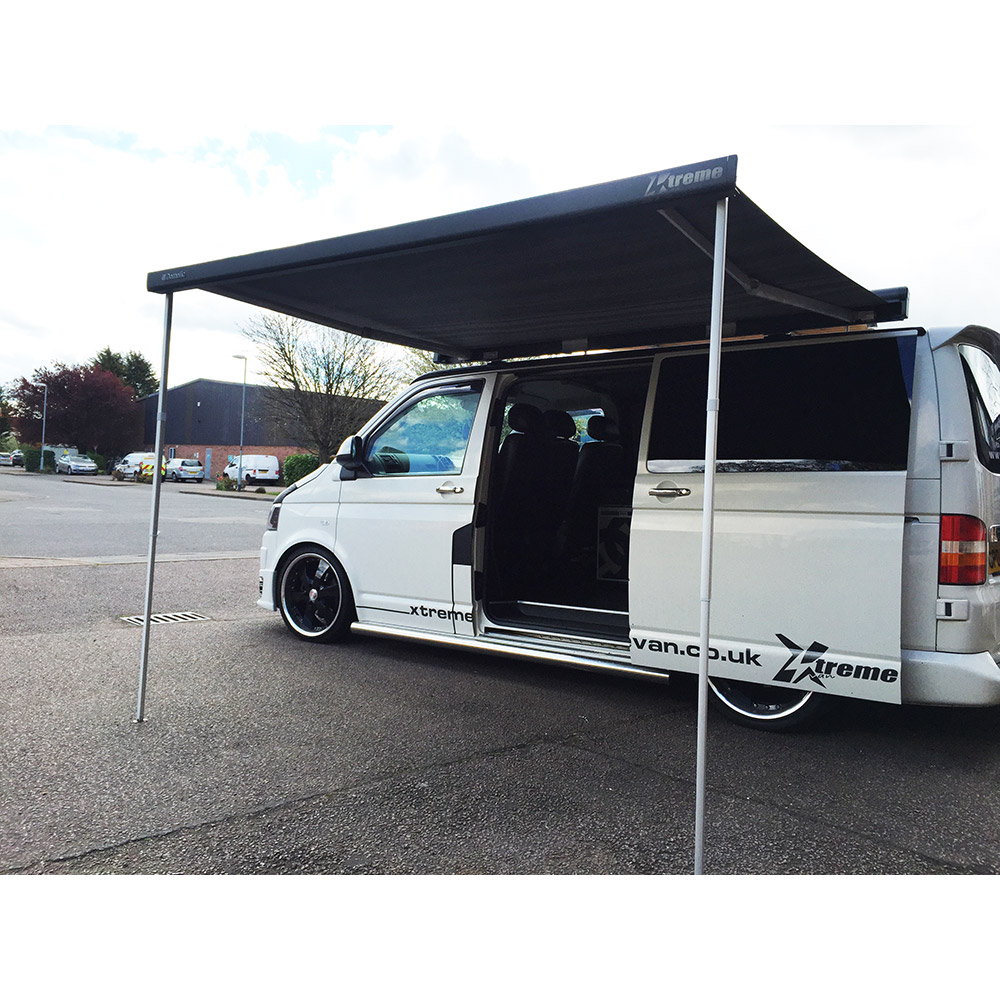 Dometic 26m Roll Out Awning Anthracite VW T4 T5 T6 Xtremevan Conversions Authorised Dealers Of Hiloroof Eberspacher Calibre CBE Cerwin Vega