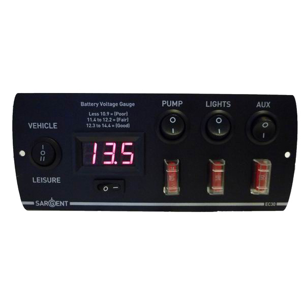 Sargent Control Panel Battery Voltage Guage (5 Switch Panel)