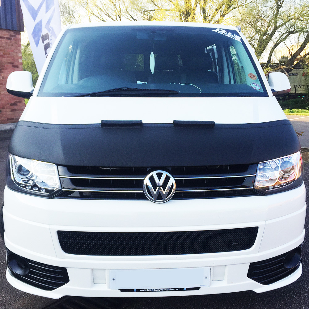 VW T5.1 (Facelift) Aero Half Bonnet Bra (Black)