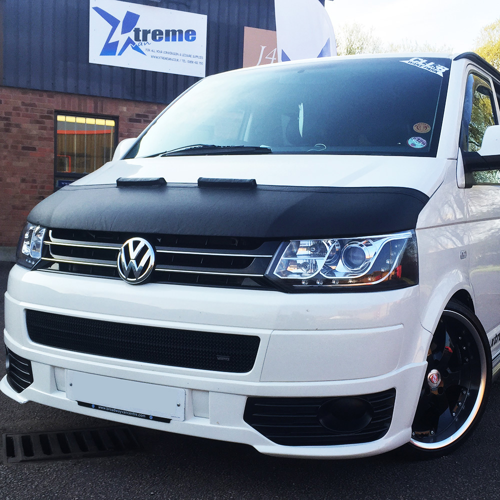 Vw T5 1 Facelift Aero Half Bonnet Bra Black Vw T4 T5