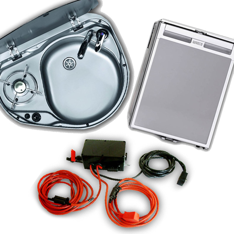 Sink, Hob, Fridge and Split Charger Packages