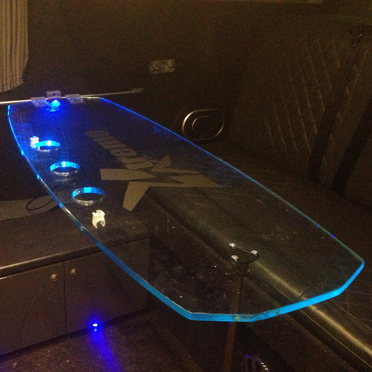 Large Wakeboard Table with 3 Holes and Light Kit
