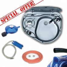 Smev 8821 Sink & Burner Bundle Deal 7