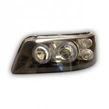 T5 Headlamp Angel Eyes Black with Motor (03-10) Pair