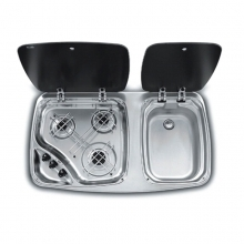 Smev Three Burner Hob & Sink 7123