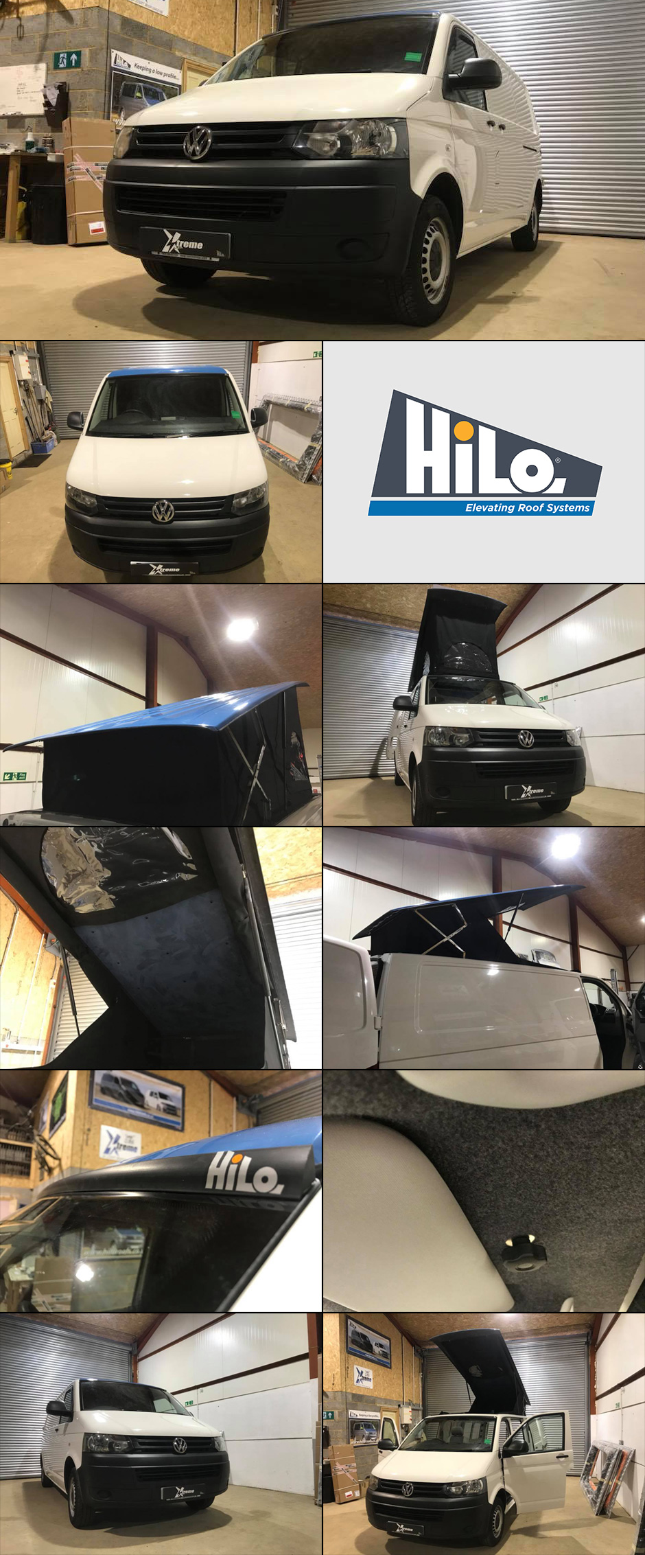 xtremevan vw t6 hiloroof fitters van conversions