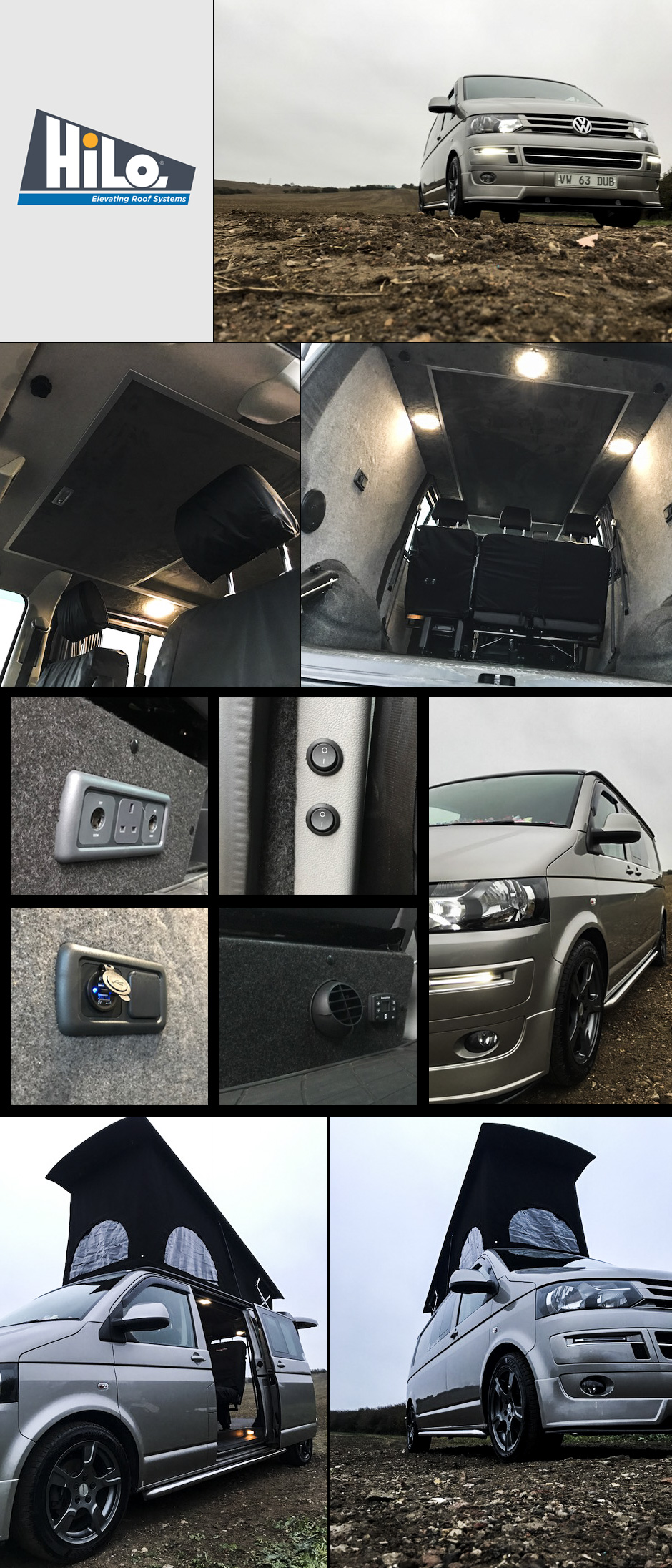 xtremevan hiloroof poptop roof fitters vw t5 t6 conversions