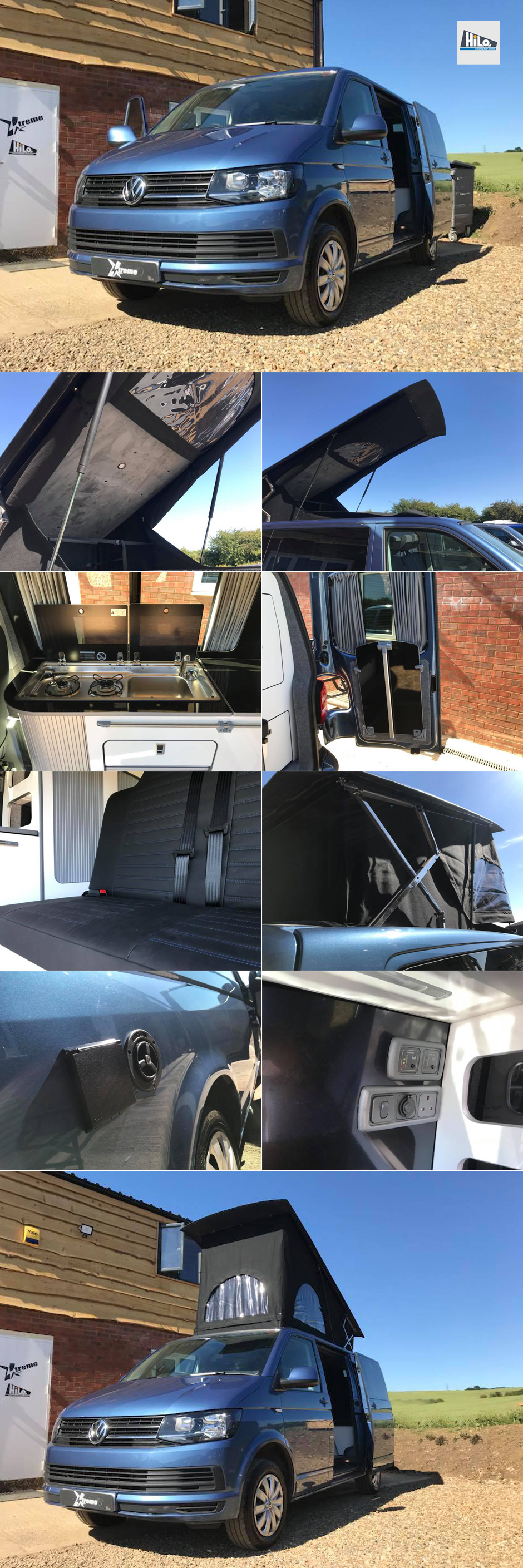 hiloroof fitters east midlands vw t5 t6 ford custom