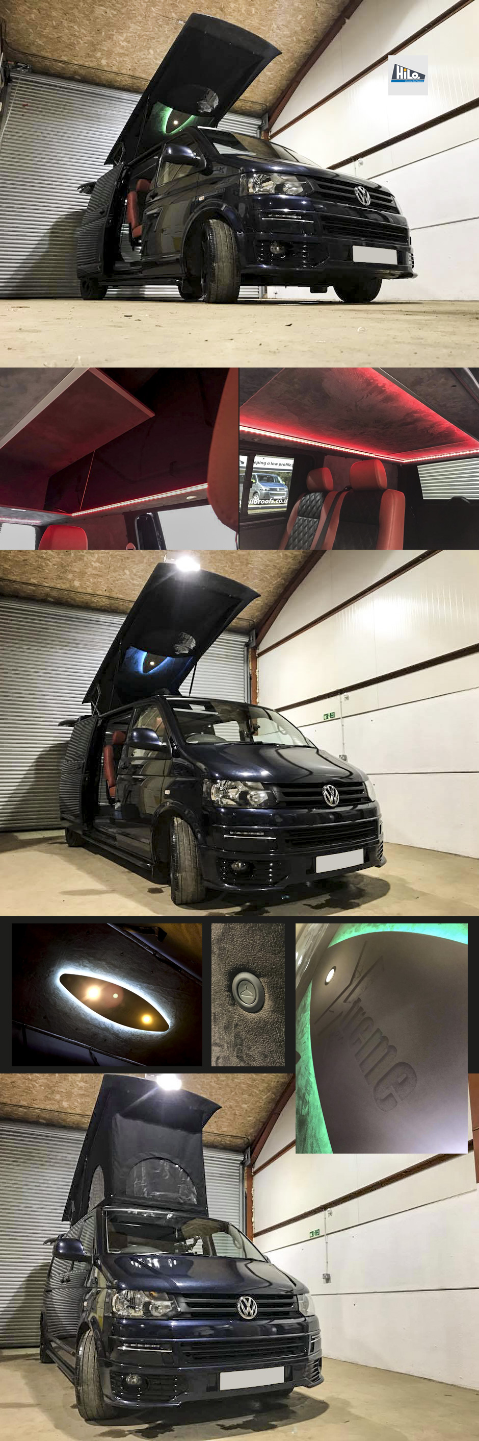xtremevan vw t6 hiloroof conversion