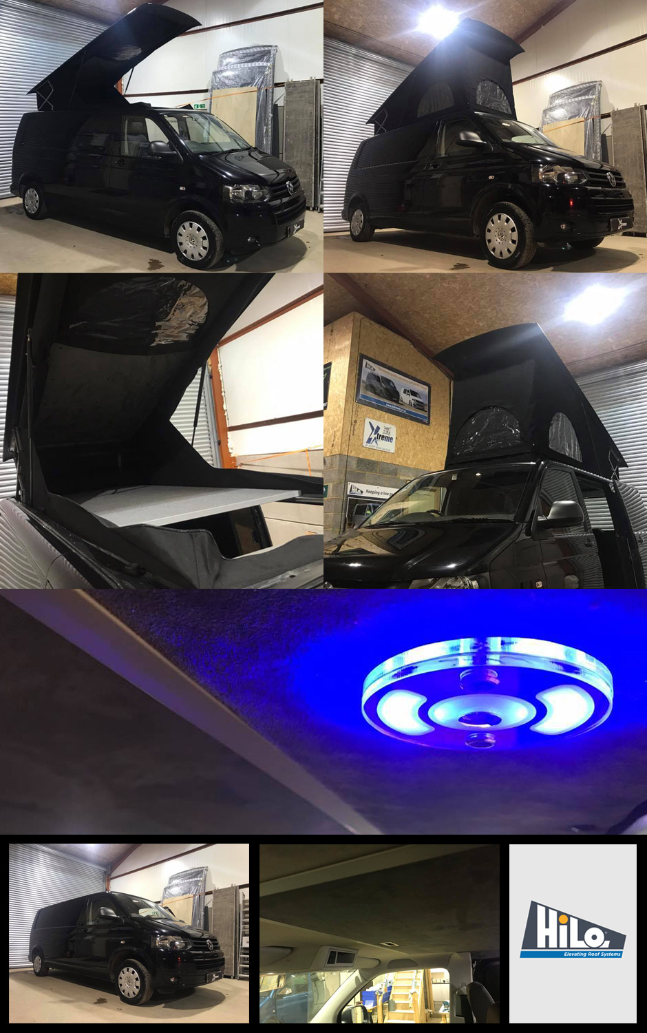 xtremevan hiloroof vw t5 t6 ford custom transit poptop roof fitters