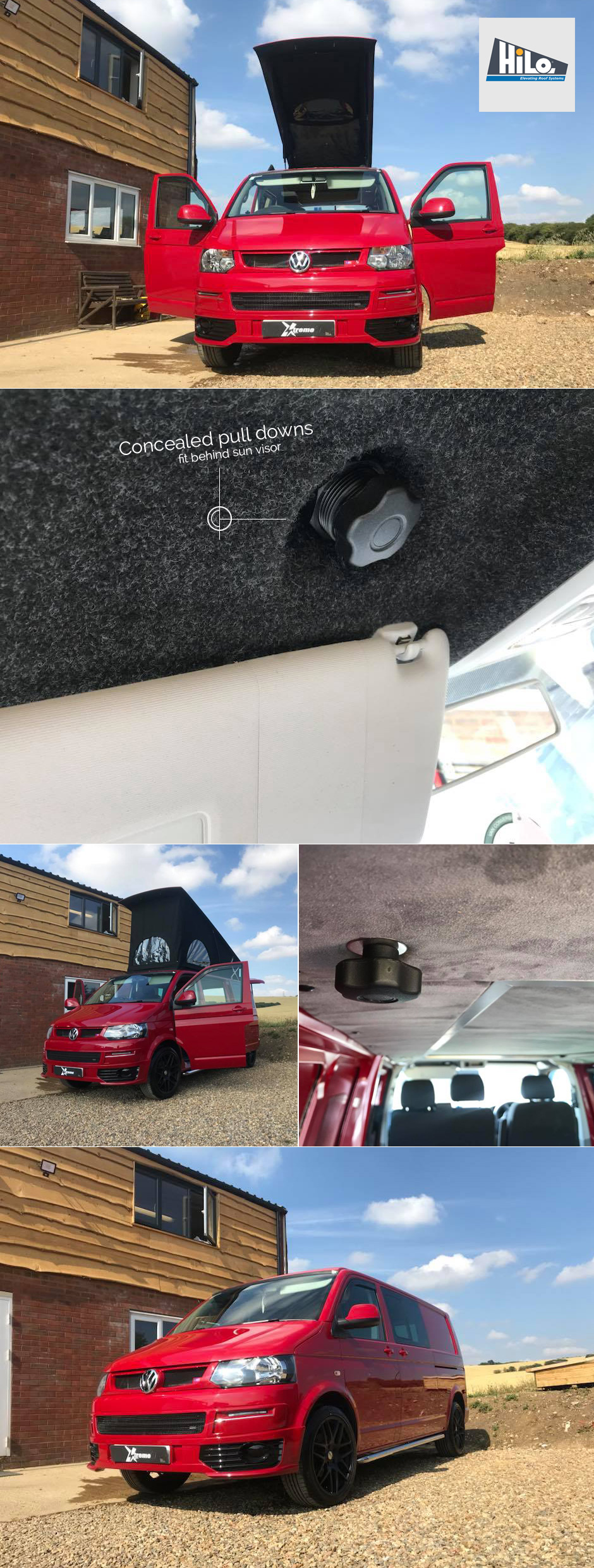 poptop hiloroof vw t6 conversion xtremevan
