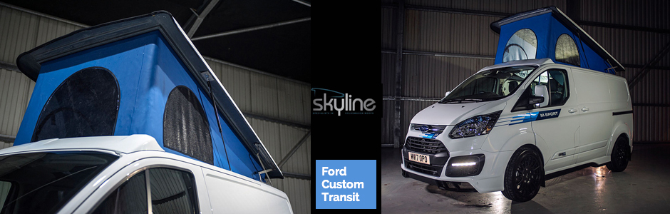 skyline poptop roof fitters xtremevan for transit custom